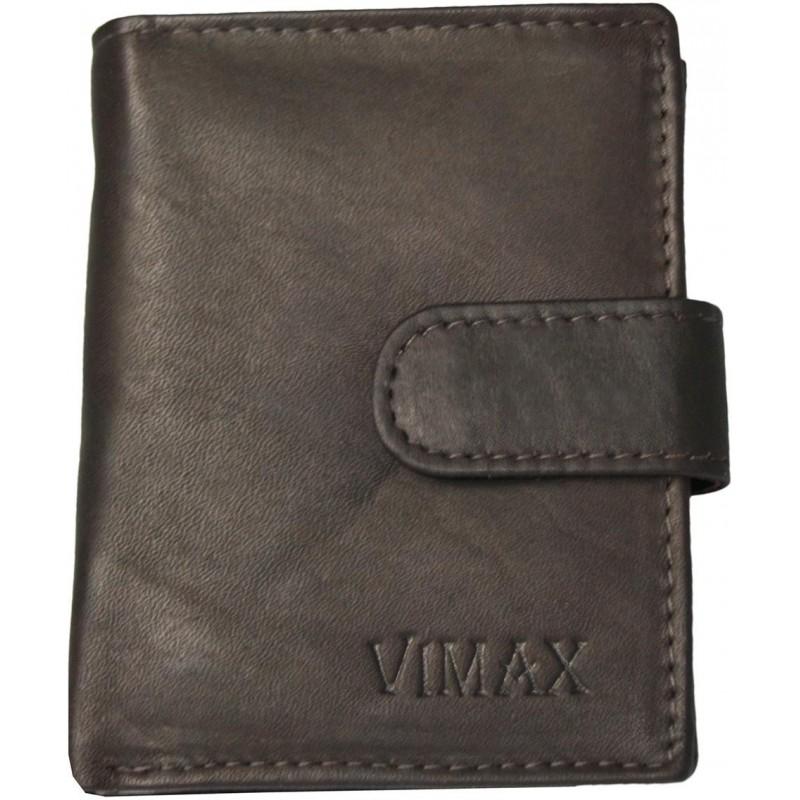 6610d5970 Malá pánska peňaženka Vimax AMV-07-256A z tmavohnedej kože