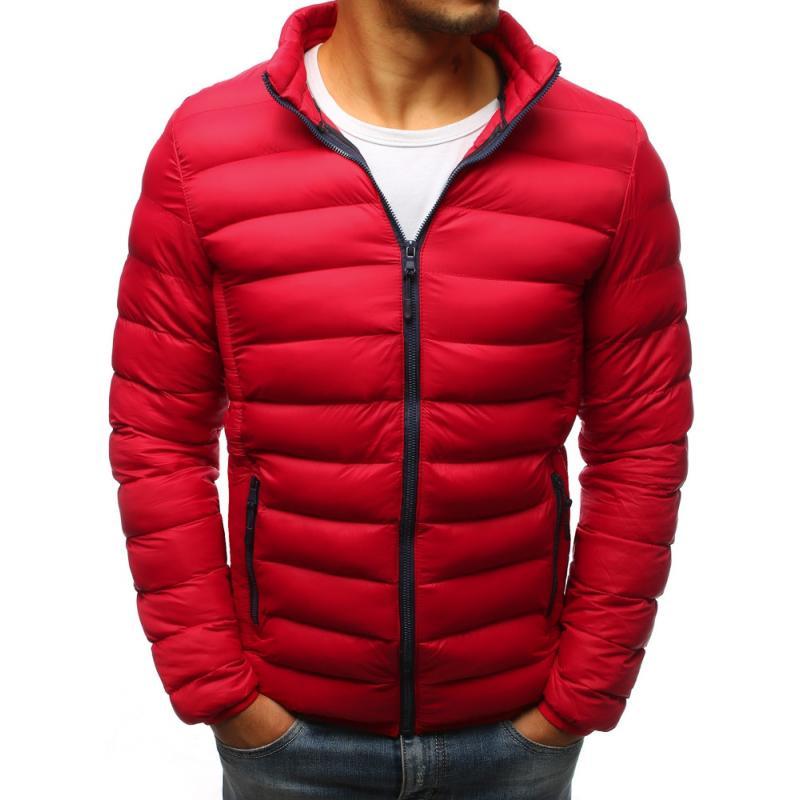 Pánska prešívaná bunda (tx2424) - červená