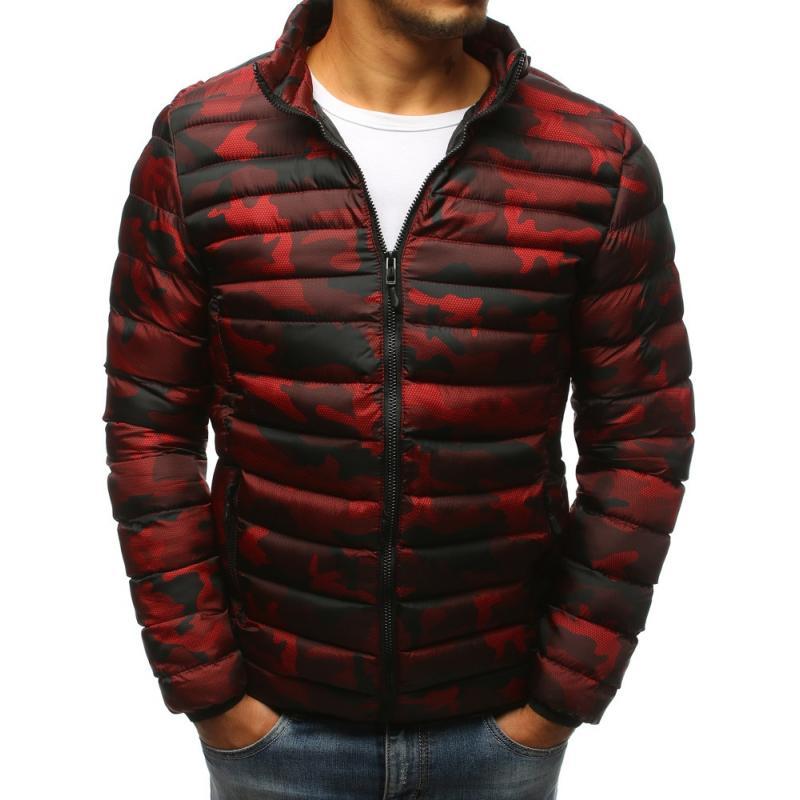Pánska prešívaná bunda červená (tx2430)
