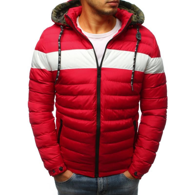 Pánska zimná bunda (tx2395) - červená ce1568f8174