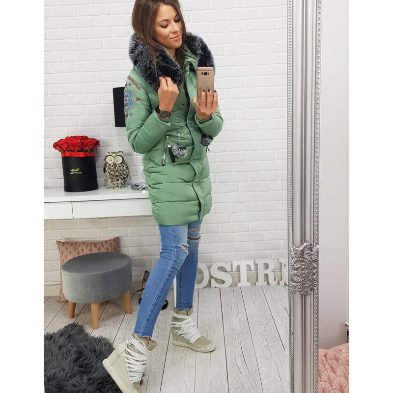 Dámska zimná bunda FOLK (ty0404) - zelená