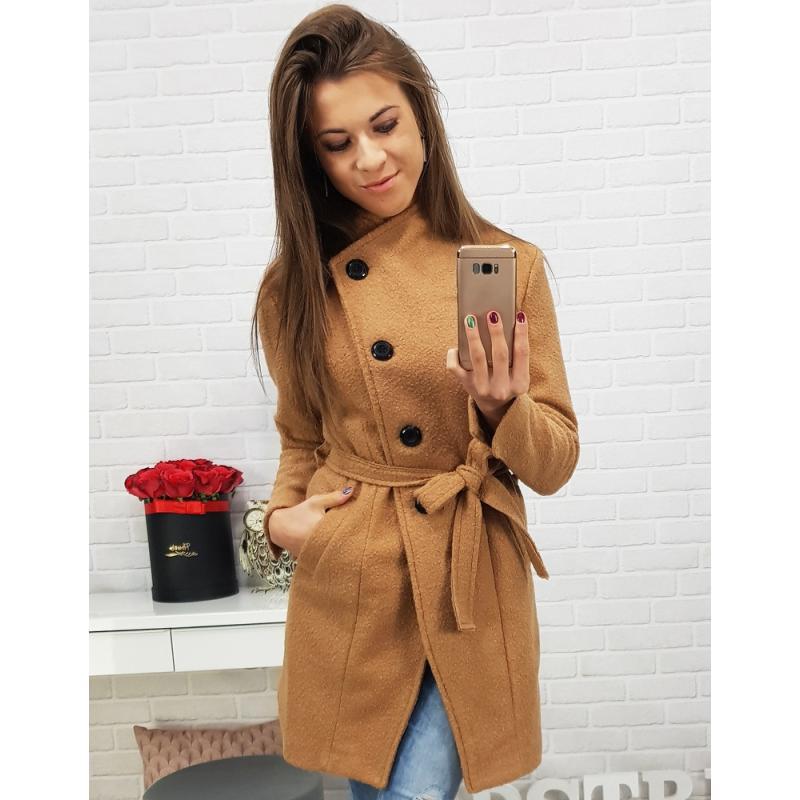 Dámsky kabát (ny0179) - ťavia hnedá a5ec1522f4a
