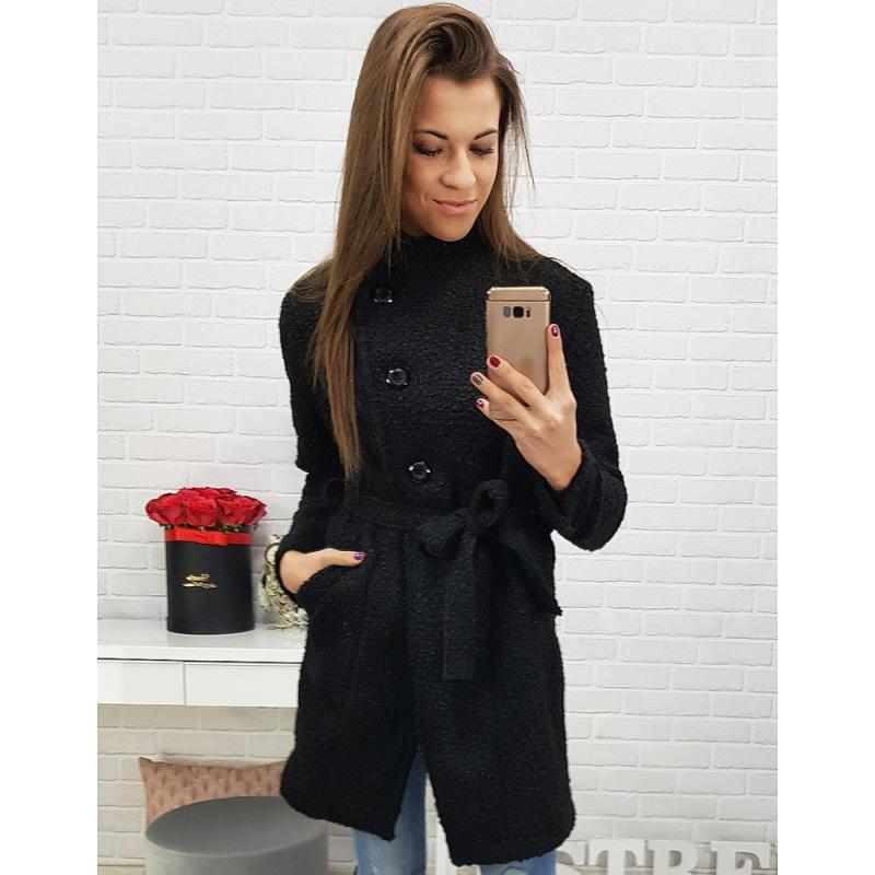 Dámsky kabát (ny0180) - čierny 7fee9c13712