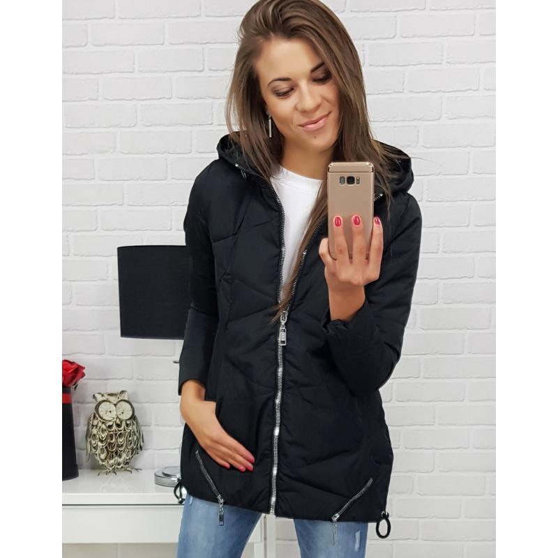 """Prešívaná dámska bunda na prechodné obdobie (ty0318) - čierna """"XXL"""""""