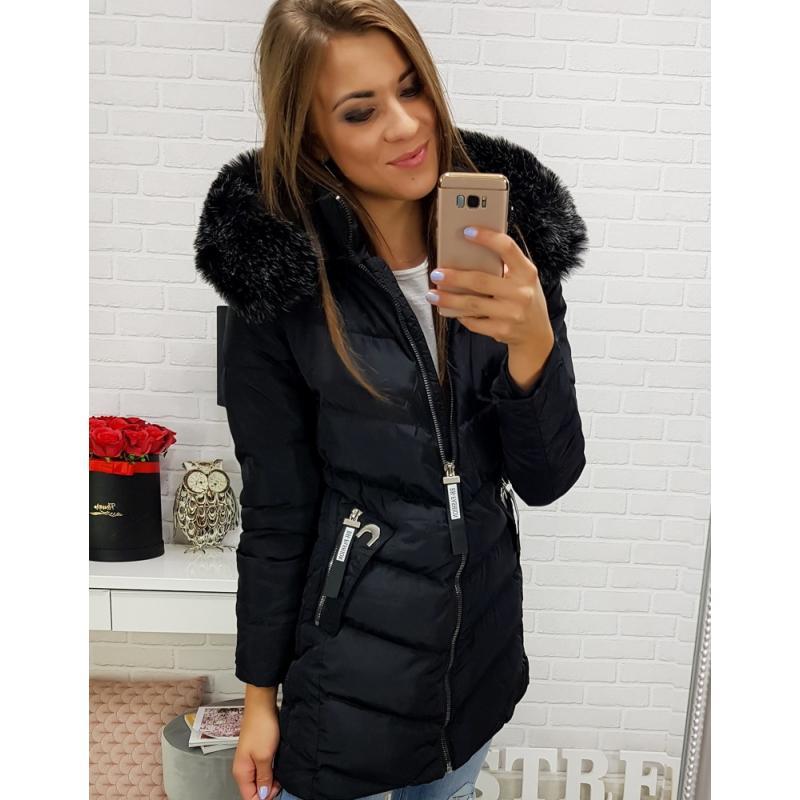Dámska bunda na zimu (ty0280) - čierna veľ. M