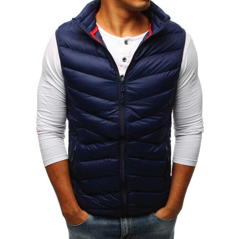 Pánska vesta bez kapucne (tx2301) - tmavo modrá