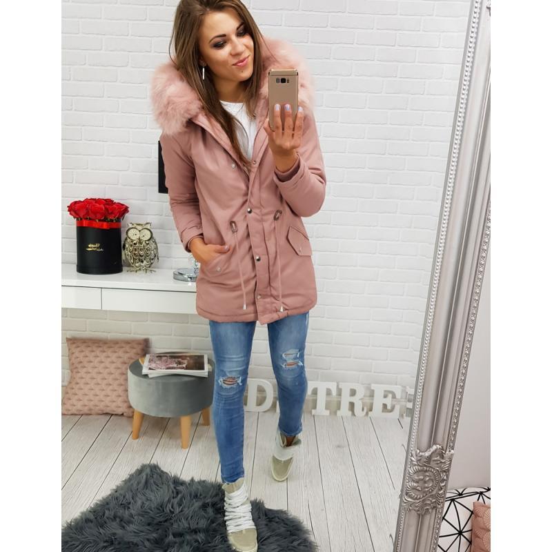 "Dámska zimná bunda (ty0270) - ružová ""S"""