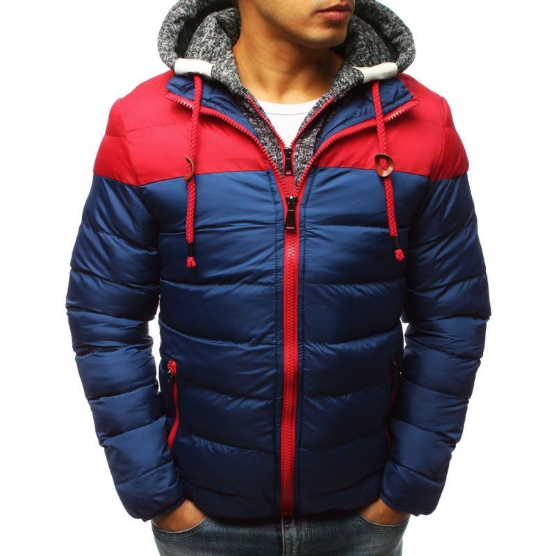 Pánska zimna bunda (tx2506) - modrá 19fedad7e3f
