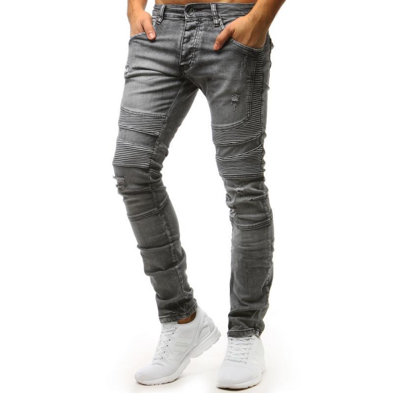 b37a39e3cd13 Pánske jeansové nohavice (ux1515) - grafitové