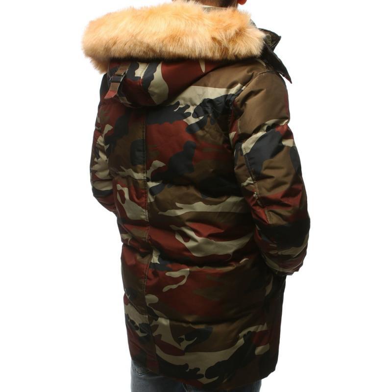 Pánska zimná bunda s kapucňou (tx2532) - maskáčová 198e45922b9