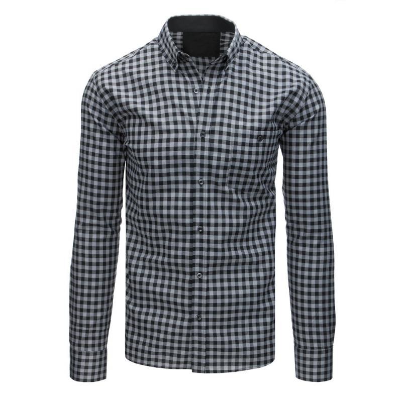 Pánska košeľa (dx1576) - sivá d4f4eb40c9f