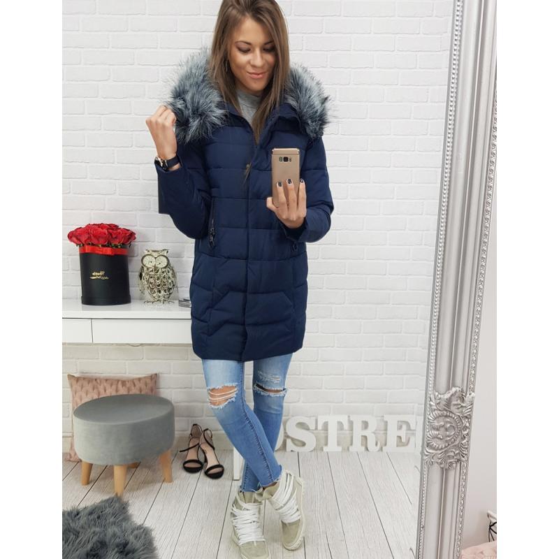 """Dámska zimná prešívaná bunda (ty0408) - tmavo modrá """"XL"""""""