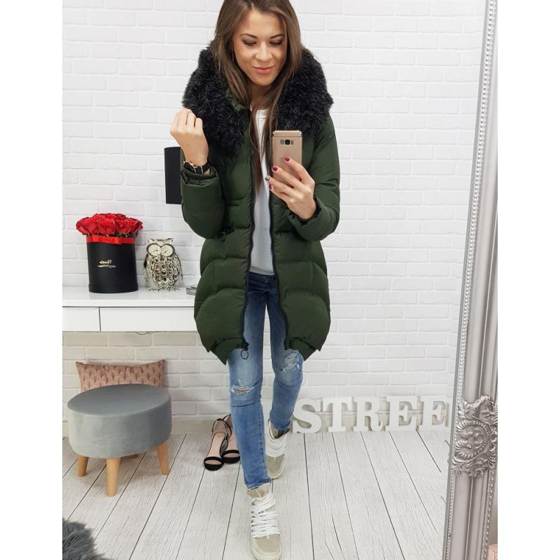 Dámska zimná bunda (ty0455) - zelená