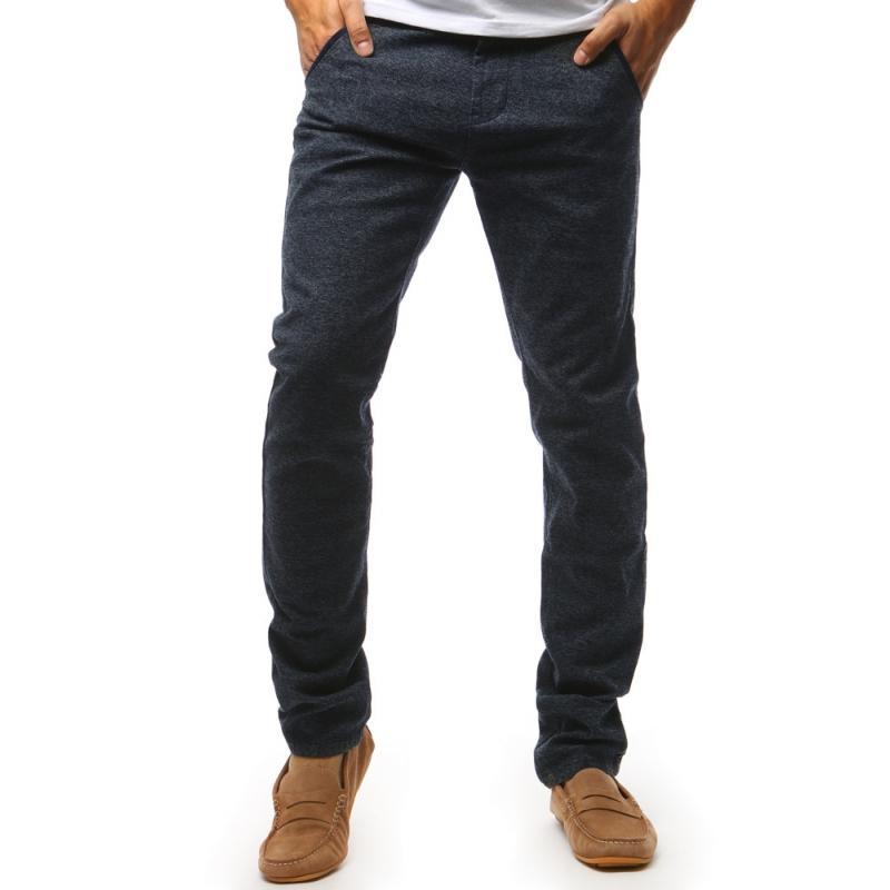 """Pánske nohavice chinos (ux1439) - tmavo modré """"34"""""""