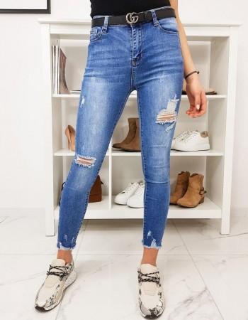 Dámske modré džínsy Skinny Fit EUFORIA UY0284
