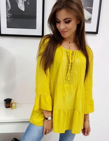Dámska pekná blúzka LISSA (ry0719) - žltá