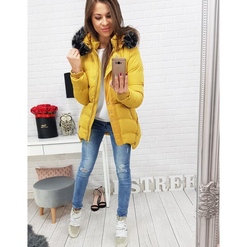 Dámska zimná bunda prešívaná (ty0462) - žltá