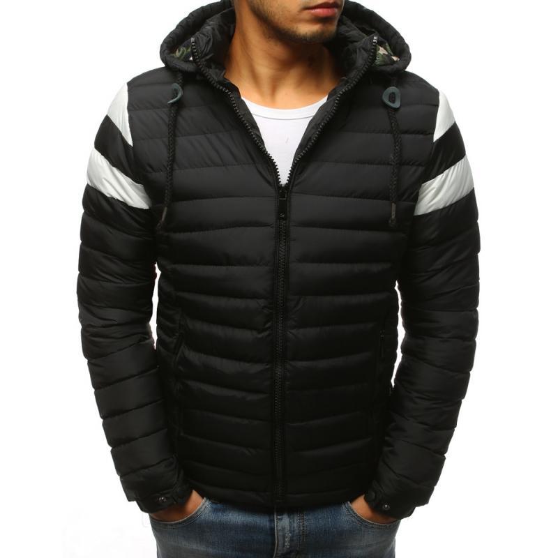 Pánska zimná prešívaná bunda (tx2398) - čierna