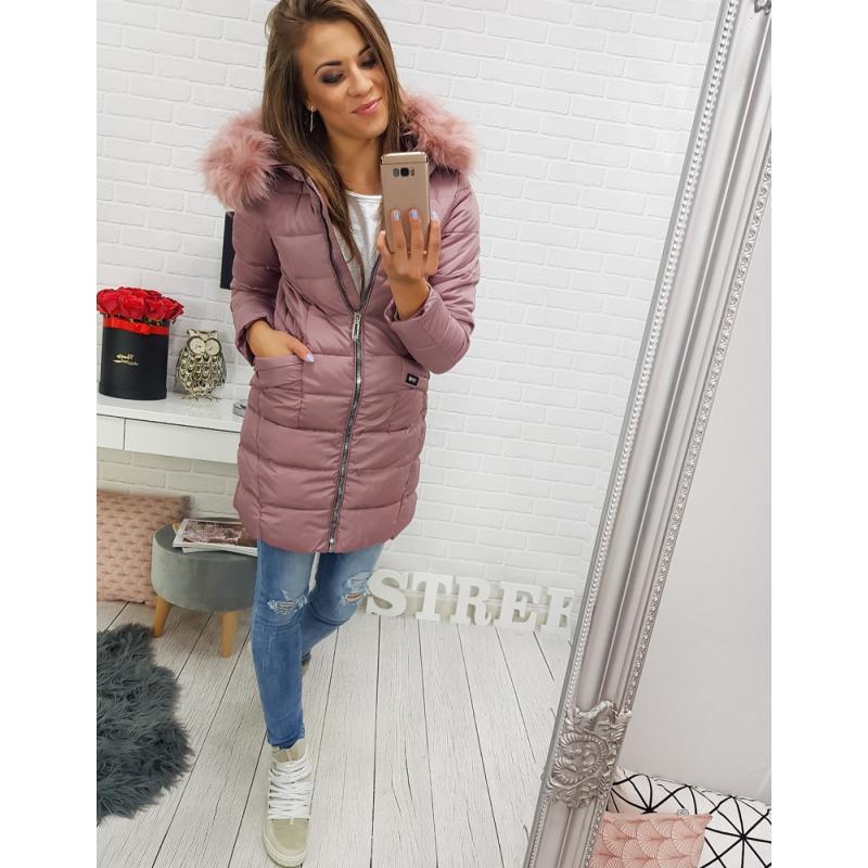 """Dámska zimná bunda s kapucňou (ty0301) - ružová """"M"""""""