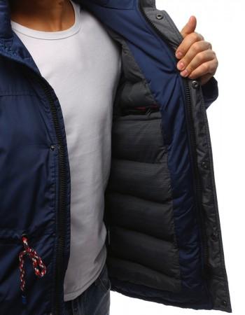Pánska zimná bunda (tx2481) - tmavomodrá, veľ. XXL