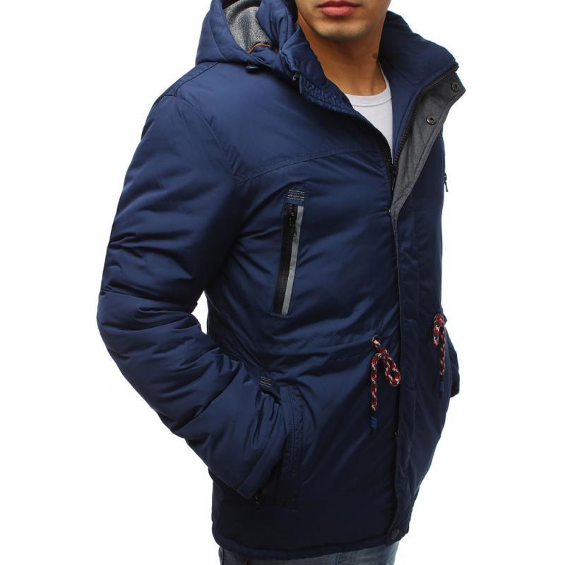 Pánska zimná bunda (tx2481) - tmavo modrá 8a0f7b738ac