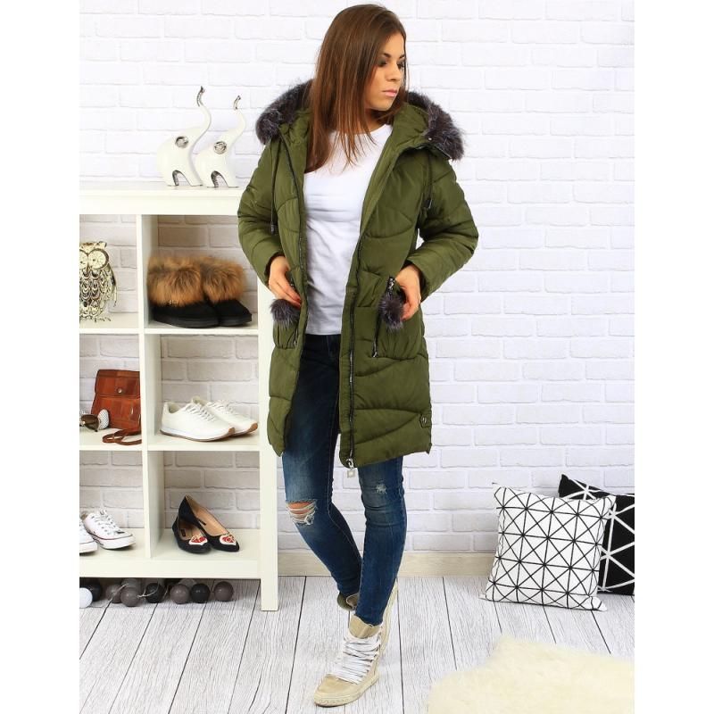 Dámska zimná bunda ELIZABETH (ty0196) - olivová veľ. M