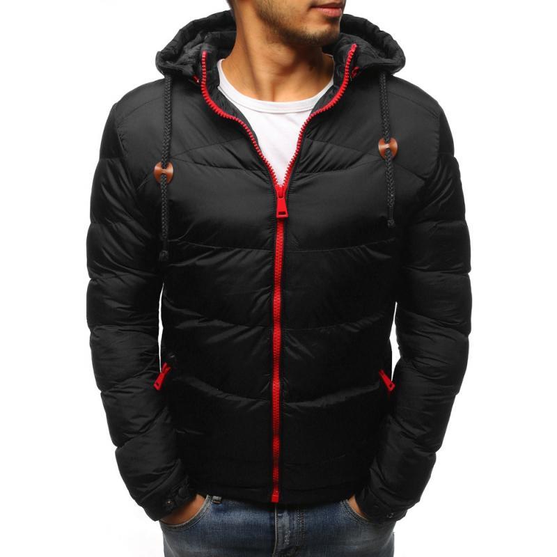 Pánska prešívaná zimna bunda (tx2403) - čierna, veľ. 3XL