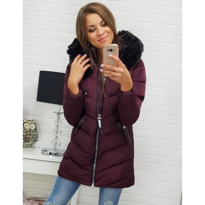 Dámska bunda na zimu (ty0306) - bordová veľ. M