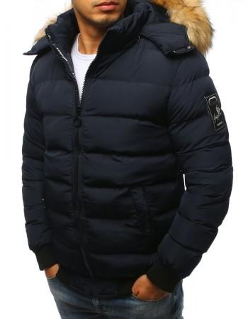 Pánska bunda prešívaná (tx2316) - tmavomodrá, veľ. XXL