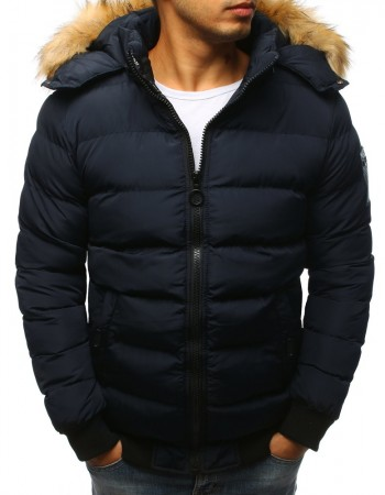 Pánska bunda prešívaná  (tx2316) - tmavo modrá, veľ. XXL