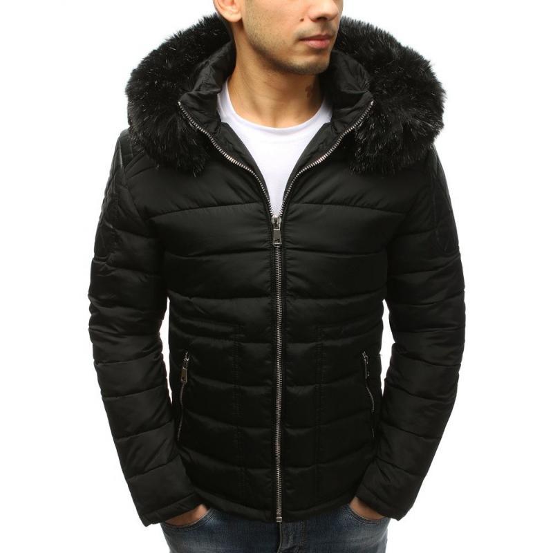 Pánska zimná bunda (tx2564) - čierna aef5912e2aa