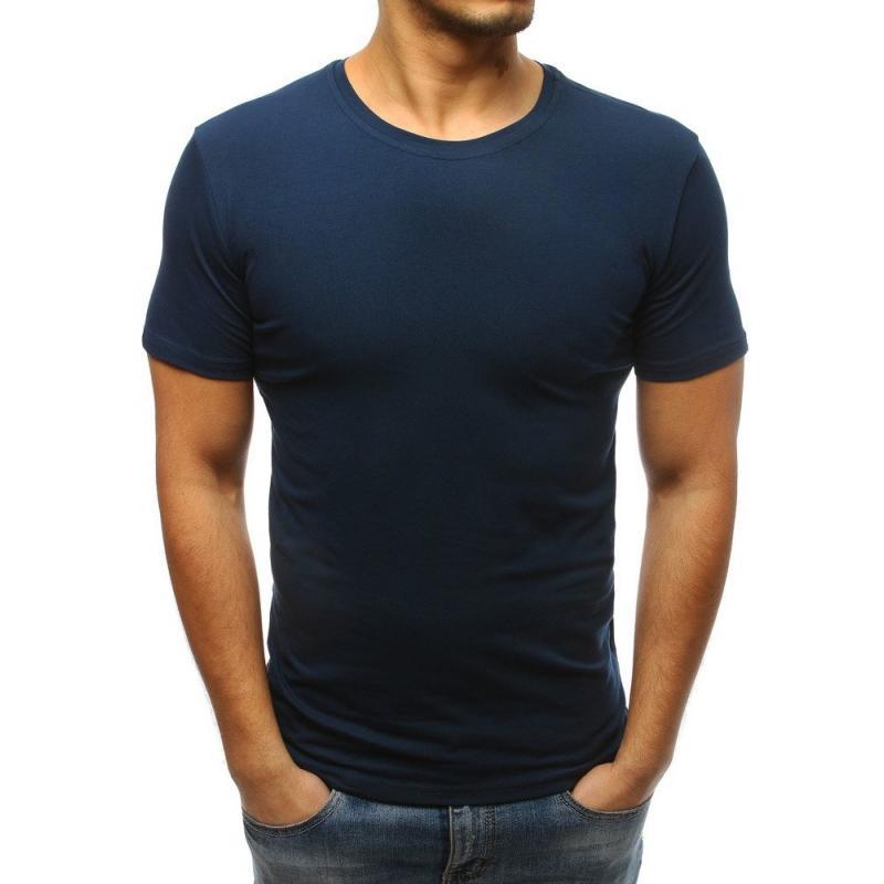 7d6128bc7191 Pánske tričko bez potlače (rx3278) - tmavomodré