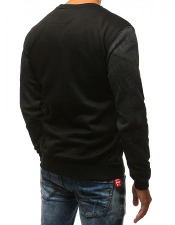 Pánska mikina s peknou potlačou (bx3521) - čierna, veľ. M