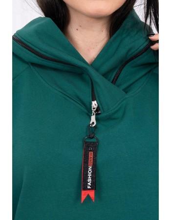 Tunika so zipsom na kapote Oversize зеленый, Zelená