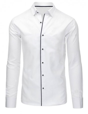 Elegantná pánska košeľa (dx1044) - biela, veľ. XL