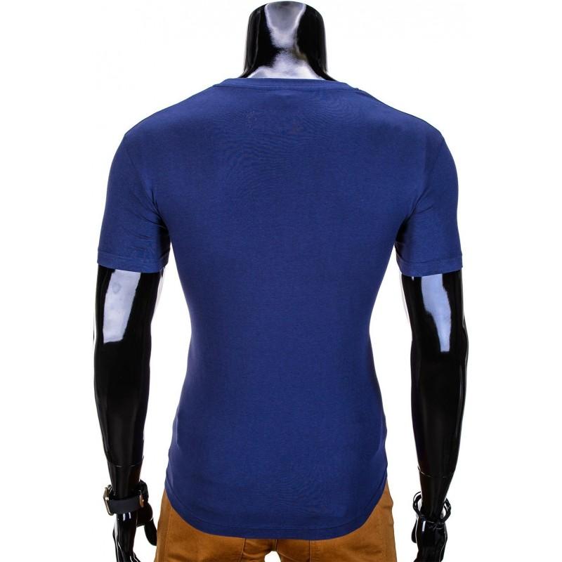 5d5a6b4aacca Štýlové pánske tričko s krátkym rukávom S613 - svetlomodré