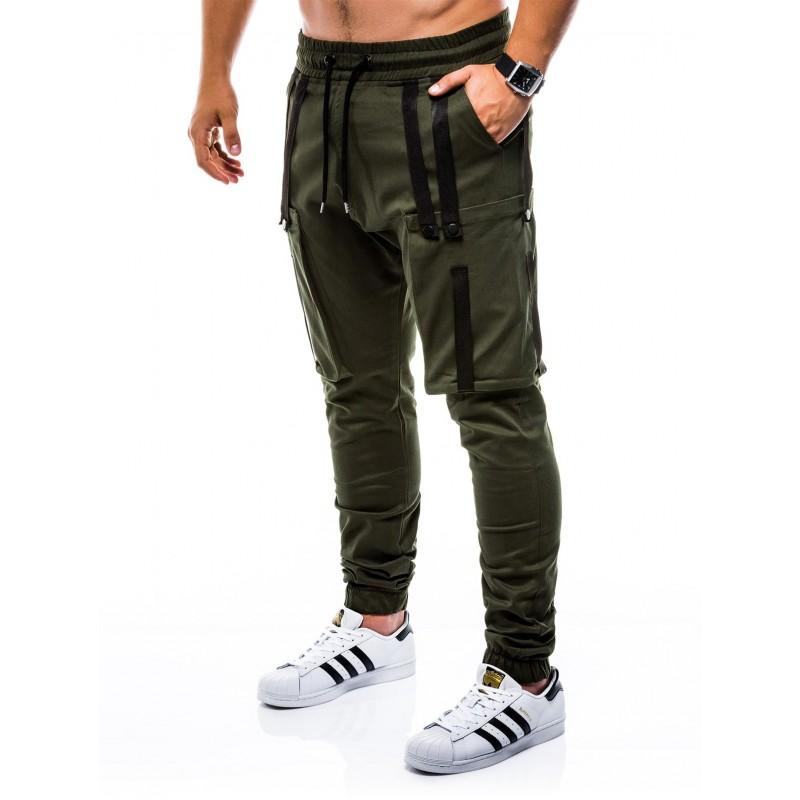 75390db7372d Pánske trendy joggery P671 - khaki