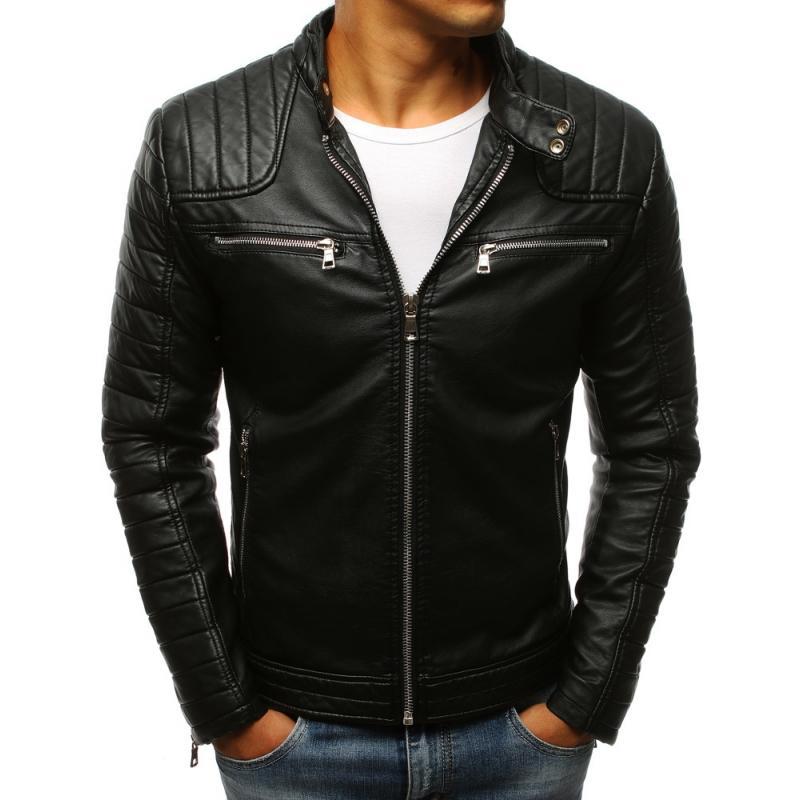 Pánska koženková bunda (tx2248) - čierna, veľ. L