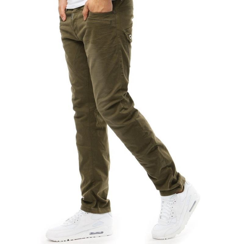 Výrazné pánske džínsy (ux1858) - khaki