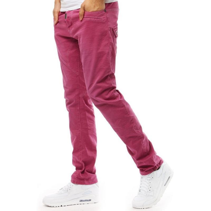 Výrazné pánske džínsy (ux1861) - ružové