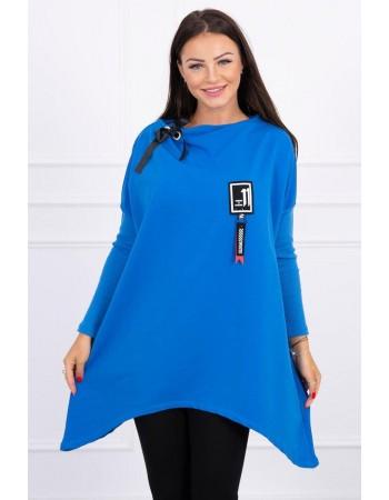 Dámska mikina oversize 0015 - modrá