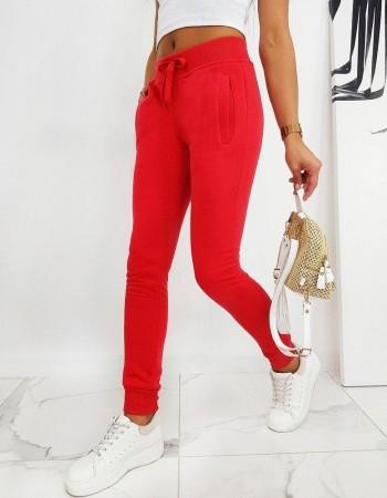 Spodnie damskie dresowe FITS czerwone UY0533