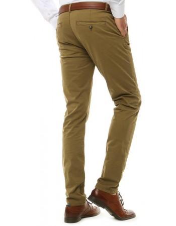 Spodnie męskie chinos kamelowe UX2578