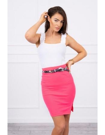 Sukňa s prúžkom ružový neón, Ružová neon