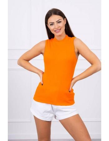 Blúzka bez rukávov oranžový, Oranžový
