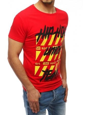 Tričko s potlačou pre mužov RX3966 - červené