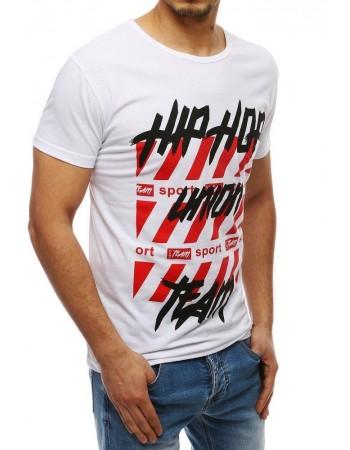Tričko s potlačou pre mužov RX3967 - biele