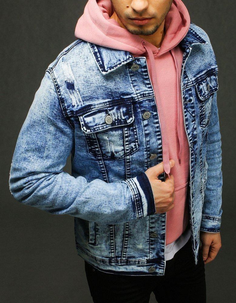 Džínsová pánska bunda TX3224 - modrá