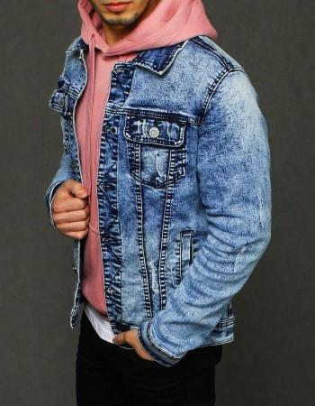 Kurtka męska jeansowa niebieska TX3224