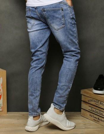 Spodnie jeansowe męskie niebieskie UX2477